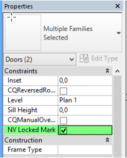 Adds a new parameter \u201cNV Locked Mark\u201d on doors and windows. This parameter allow you to define that a door / window should keep its given Mark when running ...  sc 1 st  Naviate Help - Symetri & Door Tools